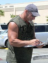 """William Scott """"Bill"""" Goldberg (born December 27, 1966) is an American actor, former professional football player, and semi retired professional wrestler. He is known for his appearances with World Championship Wrestling (WCW) between 1997 and 2001, and in World Wrestling Entertainment (WWE) between 2003 and 2004. Within WCW, he had a lengthy undefeated streak in singles competition from 1997 to 1998: the official count was given as 1730, which exaggerated the number of matches actually staged. Goldberg is a two-time world champion: a one-time WCW World Heavyweight Champion and a one-time World Heavyweight Champion in WWE. He is also a two-time WCW United States Heavyweight Champion and one-time WCW World Tag Team Champion (with Bret Hart). Goldberg headlined many pay-per-views for WCW and WWE, including closing WCW's premier annual event, Starrcade, on two occasions. WWE Hall of Famer and industry veteran Arn Anderson likened Goldberg's popularity at his peak to that of Hulk Hogan, The Rock and Stone Cold Steve Austin, saying that he """"was as hot as anybody has ever been in the history of this business"""".[9] Before he was a professional wrestler, Goldberg was a professional football player. After retiring from wrestling, he began working as a commentator for the mixed martial arts promotion EliteXC until its closure. From 2009-2011, he was host of 26 of 39 total episodes of Garage Mahal on the DIY Network.   Contents     1 Football career 2 Professional wrestling career  2.1 World Championship Wrestling  2.1.1 Training and early matches (19961997) 2.1.2 Undefeated streak (19971998)  2.1.2.1 Exaggeration   2.1.3 Championship pursuits and last feuds (19982001)   2.2 All Japan Pro Wrestling (20022003) 2.3 World Wrestling Entertainment (20032004)  2.3.1 World Heavyweight Champion 2.3.2 Feud with Brock Lesnar and departure   2.4 Brief return to wrestling 2.5 Legends of Wrestling (2015-2016)   3 Mixed martial arts 4 Other media  4.1 Film and television 4.2 Video games   5 P"""