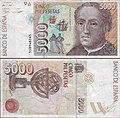 Billete de cinco mil pesetas - Cristóbal Colon.jpg