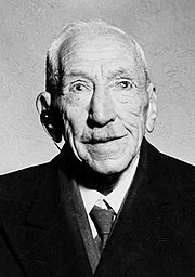 Billy Hughes in 1945 aged 83, seven years before his death