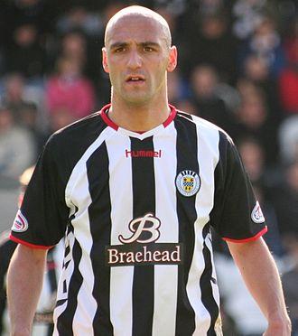 Billy Mehmet - Mehmet playing for St Mirren.
