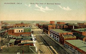 Bird's-eye View of Business Section, Muskogee, OK.jpg