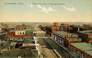 Muskogee, Oklahoma - Business district c. 1910
