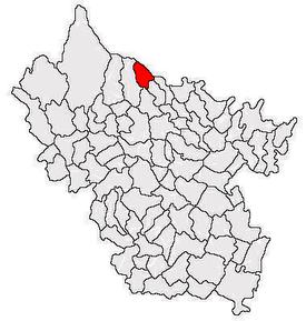Poziția localității Bisoca