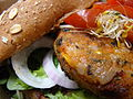 Black Bean Burger with the Works (4733182546).jpg