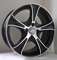 Black diamond alloy wheels