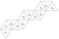 Blattbündelorientierte Netzbeschriftung eines Tetrahexaflexagons, Ordnung 1-3.png