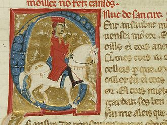 Uc de Saint Circ - Uc's portrait in a manuscript of vidas, some of which he wrote