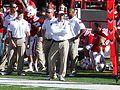 Bo Pelini with arms crossed (Nebraska vs. Rutgers, 2014).jpg
