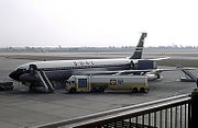 After technical problems with the Comet, BOAC resumed jet service with imported Boeing 707s
