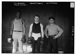 Bob Armstrong (boxer) - Armstrong, Eddie McGoorty, and Ed McMahon in 1914