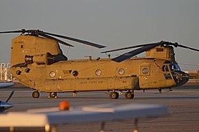 最新モデルのCH-47F