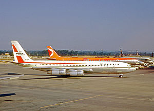 Wardair - This Wardair Boeing 707, seen at London's Gatwick Airport, served the airline from 1969 until 1978.