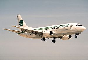 Germania (airline) - Germania Boeing 737-300 in 1996