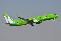 Boeing 737-8LD(w) 'ZS-ZWA' Kulula (15895561680).jpg
