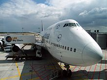 Boeing 747 of Lufthansa at Frankfurt Airport.JPG