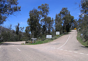 Omeo Highway - Bogong High Plains Rd turnoff on the Omeo Hwy at Shannonvale