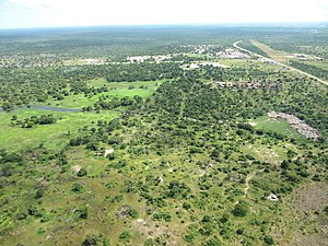 Bor, South Sudan - An aerial view of Bor