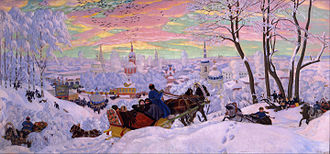 Boris Kustodiev - Pancake Tuesday; Butter Week or  Crepe week, (1916)