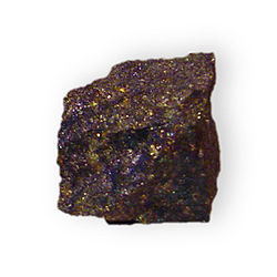 Bornite w - chalcopyrite Copper iron sulfide Mount Con Mine Butte Silver Bow County Montana 2319.jpg
