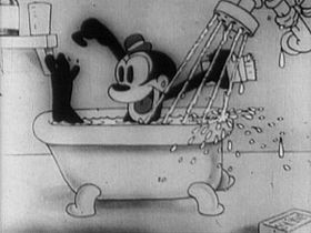 Bosko nel cartone animato Sinkin' in the bathtub del 1930