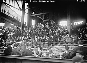 1914 World Series - Boston fans in Philadelphia during the 1914 World Series