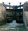 Bottom gates of Oxford Canal lock 12, Napton - geograph.org.uk - 1497168.jpg