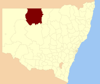 Bourke Shire - Location in New South Wales