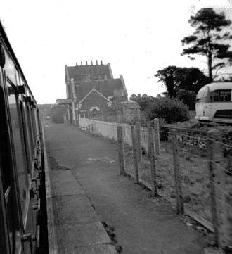 Bow, Devon - Bow railway station in 1970