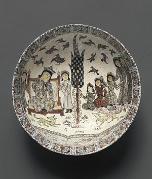 Seljuk Empire - Image: Bowl with an Enthronement Scene. Seljuq