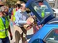 Brad Sherman collects food donations at North Hollywood Interfaith Food Pantry 01.jpg