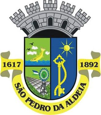 São Pedro da Aldeia - Image: Brasao de São Pedro da Aldeia