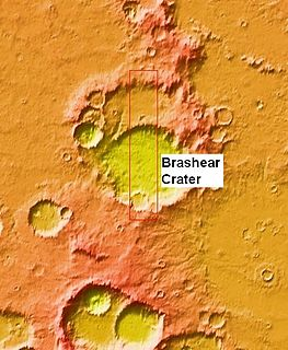 Brashear (Martian crater) crater on Mars