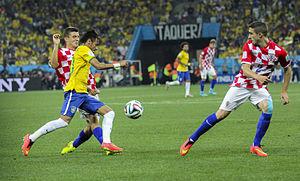Šime Vrsaljko - Brazil and Croatia match at the FIFA World Cup