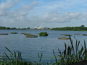 Parks and open spaces in the London Borough of Brent - A view over the Welsh Harp reservoir.