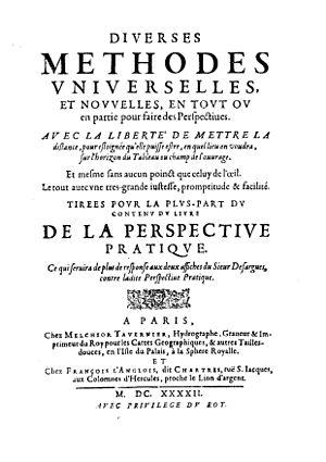Jean Du Breuil - Diverses methodes universelles et nouvelles, en tout ou en partie pour faire des perspectives, 1642