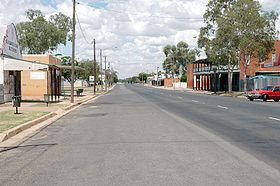 La grand'rue de Brewarrina