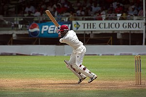 Brian Lara batting for the West Indies