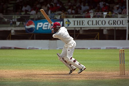 Brian Lara playing against India.