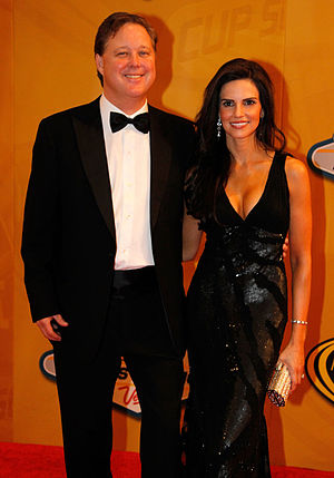 Brian France - France (left) with wife Amy in 2012