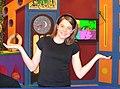 Bridget Hall on the set of Spellz (cropped).jpg