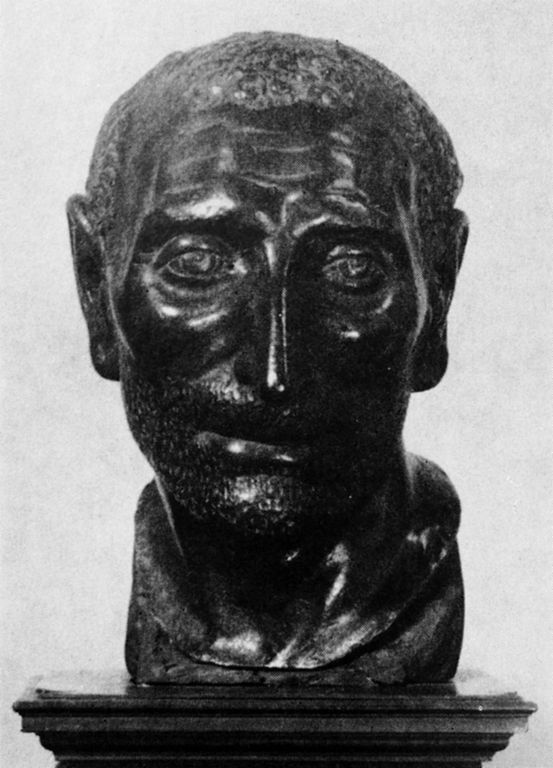 Bust of Titus Livius by Andrea Riccio, late 15th C. (Wikimedia Commons)  Livy's History of Rome was a major influence on Machiavelli's Discourses.