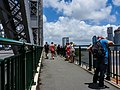 Brisbane River Town Reach flood spectators on Story Bridge Fortitude Valley P1090897.jpg