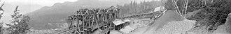 Britannia Mines Concentrator - Image: Britannia Mines, ore dump (5457285252)