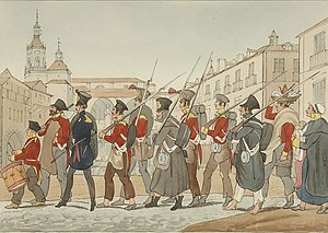 Battle of Andoain - Image: British Legion at Vitoria (1837)