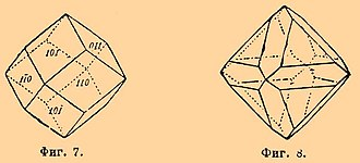 Chamfer (geometry) - Historical representation of a chamfered octahedron (right)