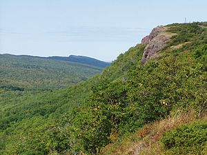 Geography of the Interior United States - Brockway Mountains of the Keweenaw Peninsula, Michigan (Precambrian of the Keweenian Series)