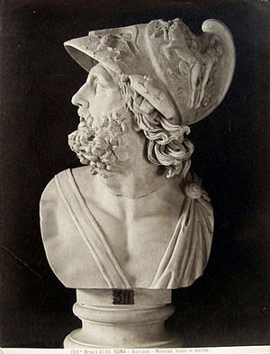 Menelaus - Marble bust of Menelaus