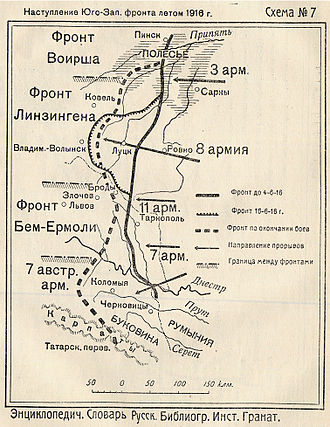 3rd Army (Russian Empire) - Offensive of the Russian South-Western front (Brusilov offensive). 1916