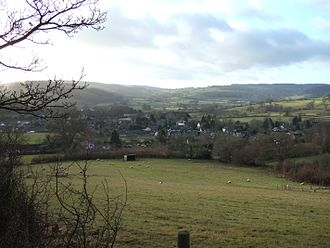 Bucknell, Shropshire - Bucknell from the north west