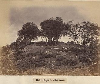 Bukit Cina - The Cemetery on Bukit China, ca. 1860-1900.